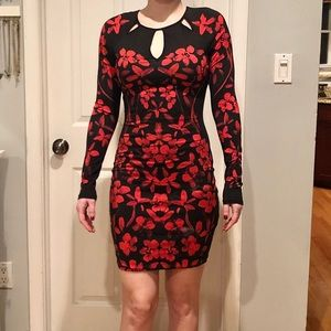 Guess Body Hugging Cocktail Dress